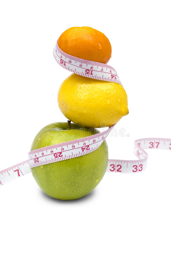 Weight loss pyramid royalty free stock image