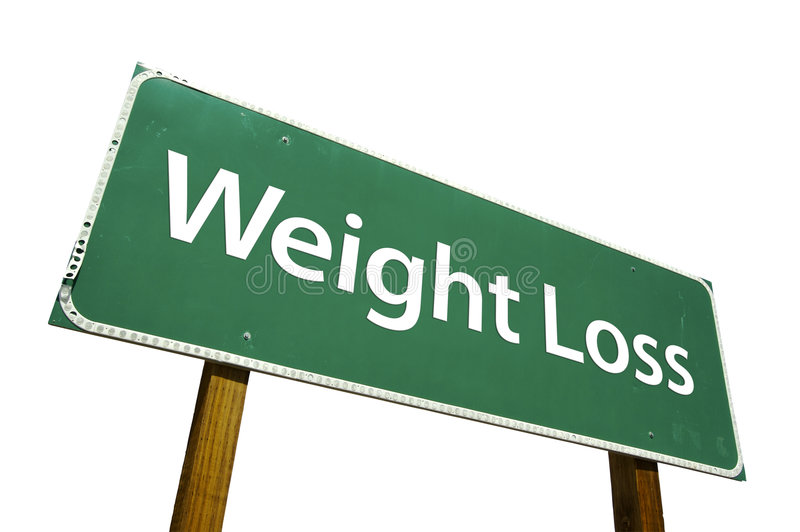 Download Weight Loss - Road Sign. Stock Images - Image: 4563884