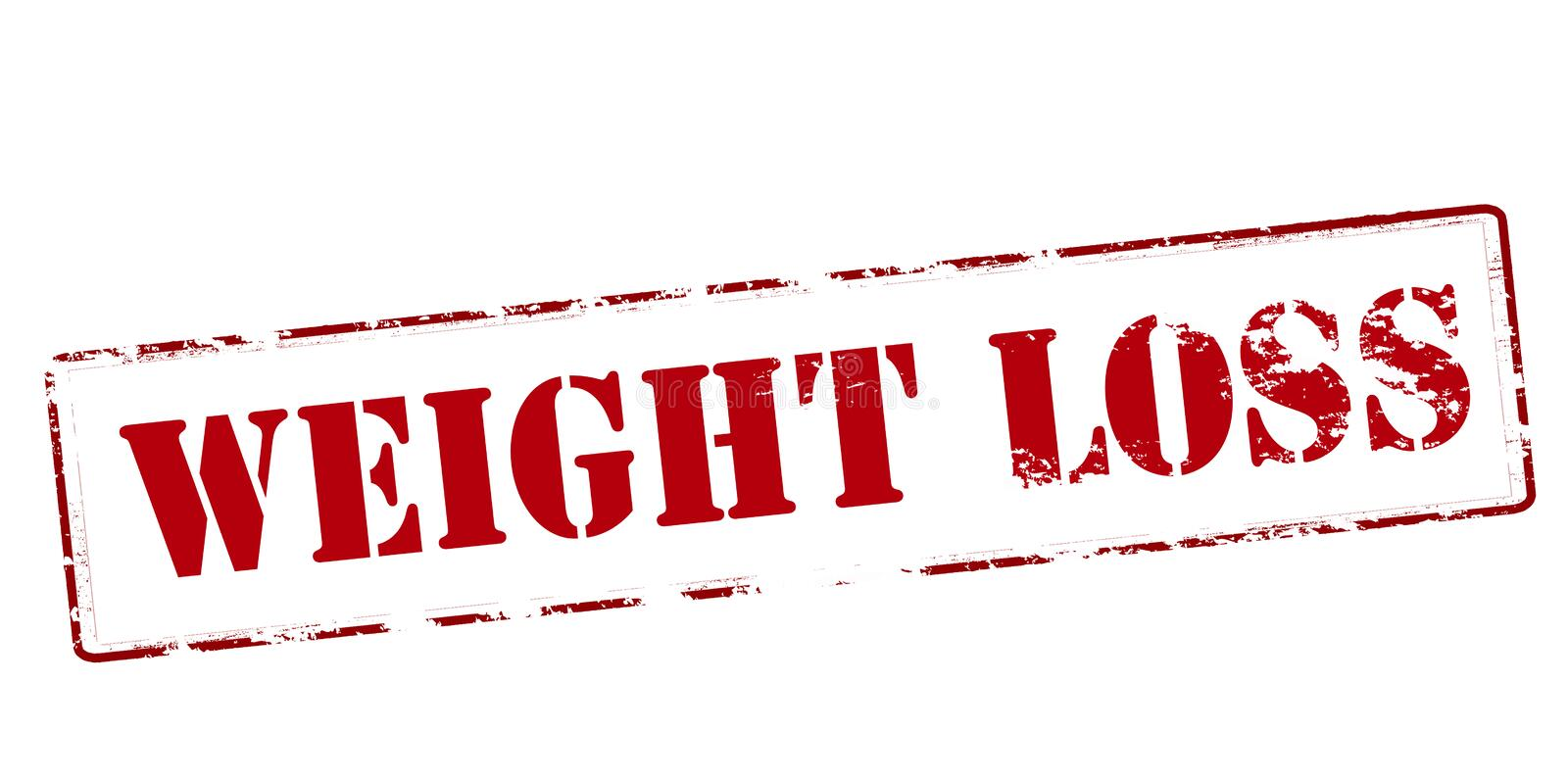 Weight loss. Rubber stamp with text weight loss inside, illustration