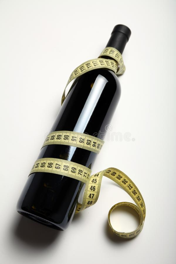 Weight loss and slim figure with a diet of red wine royalty free stock photos