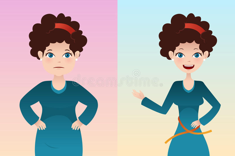 Download Before And After: Weight Loss Stock Vector - Image: 34973292