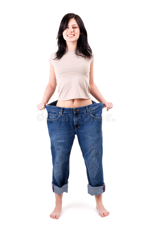 Download Weight loss woman stock image. Image of jeans, loss, caucasian - 15829863