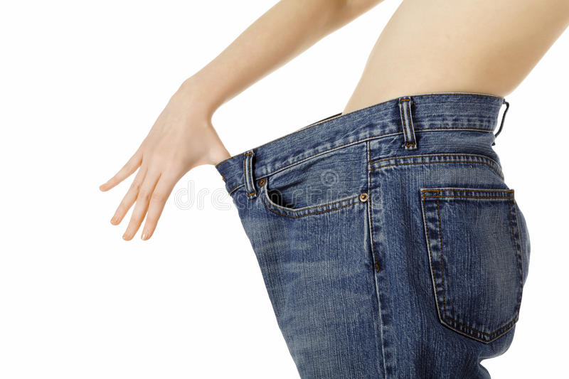 Download Weight loss woman stock image. Image of clothes, health - 18560001