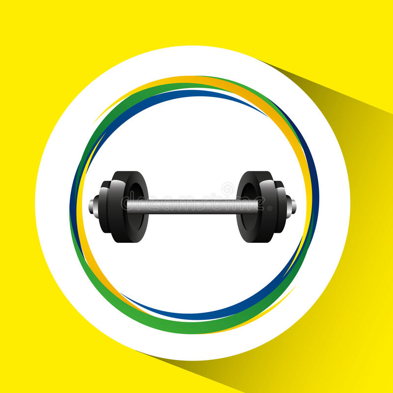 Weight lympic games brazilian flag colors. Weight olympic games brazilian flag colors vector illustration eps 10 royalty free illustration