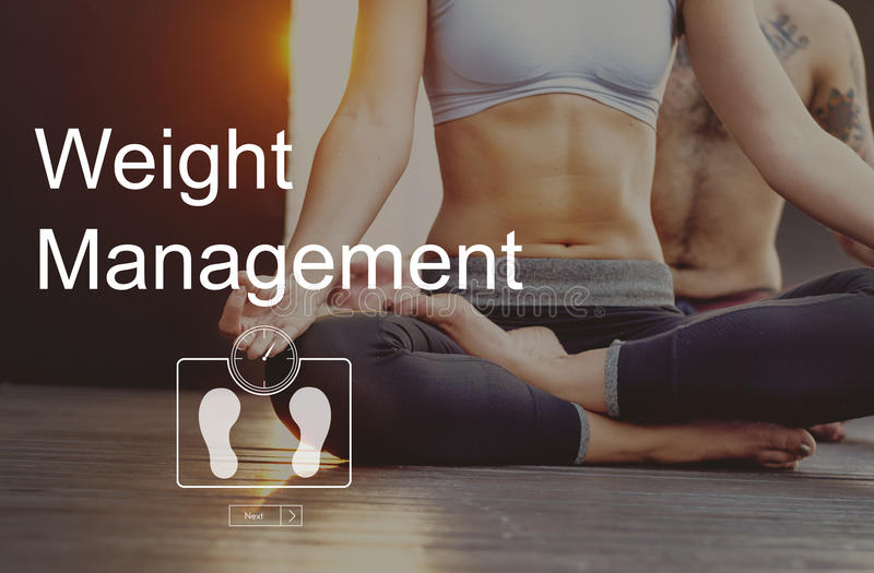 Weight Management Exercise Fitness Healthcare Concept royalty free stock photo