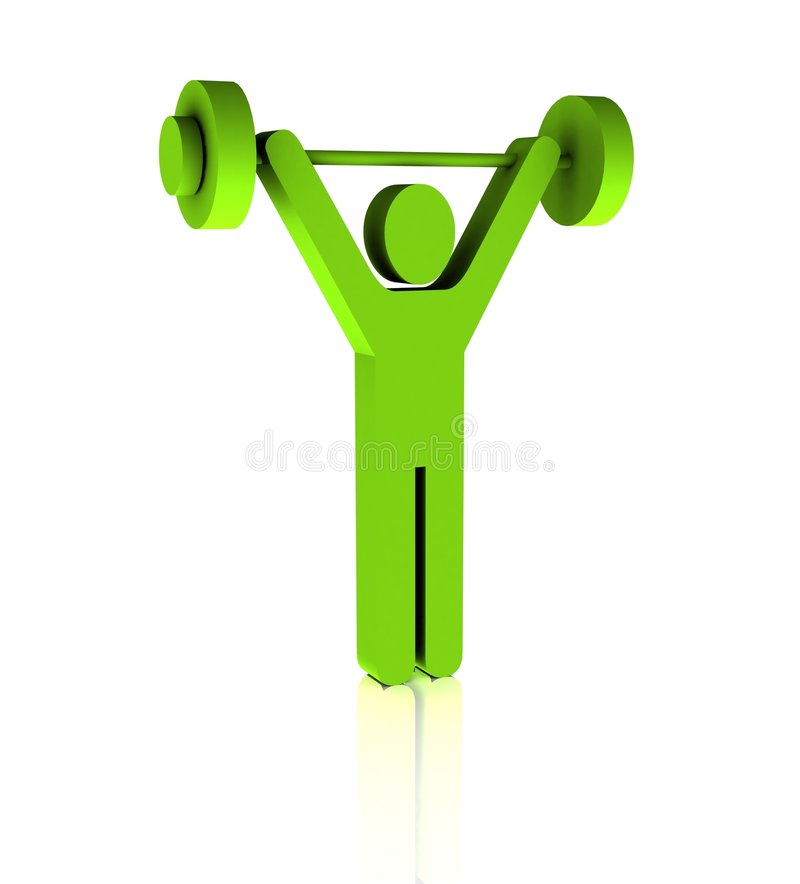 Download Weight Practice Symbol stock illustration. Illustration of fitness - 8719284