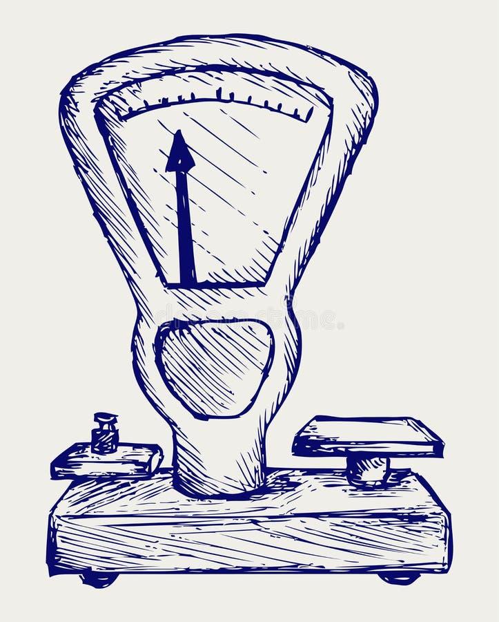 Download Weight scale stock vector. Illustration of creative, handwritten - 28588362
