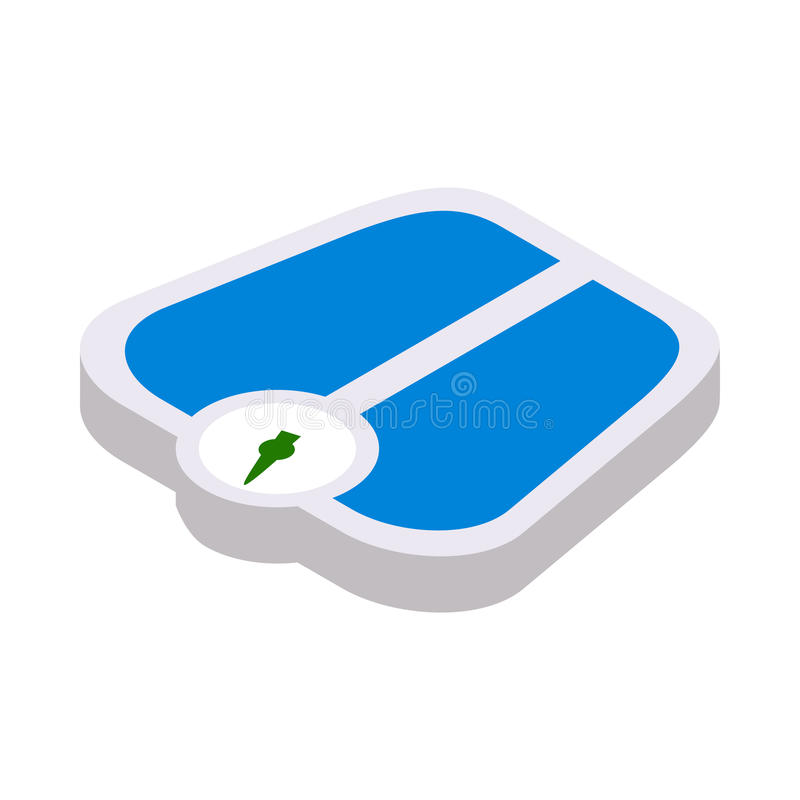 Weight scale icon, isometric 3d style stock illustration