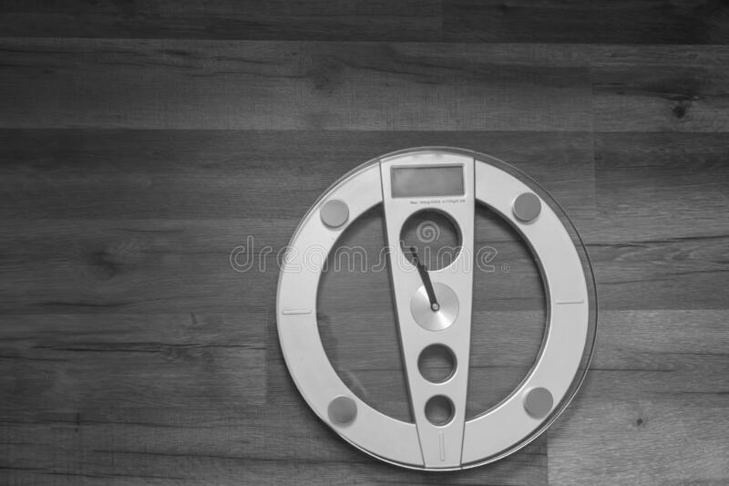 Weight scale isolated at home with copy space.  royalty free stock photos
