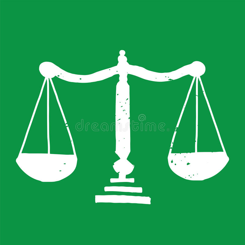 Weight Scales Illustration royalty free stock image