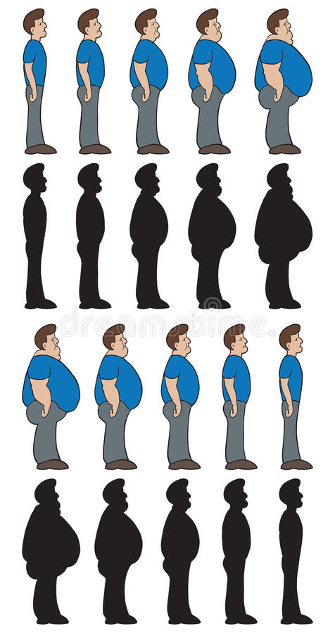 Weight stages royalty free illustration