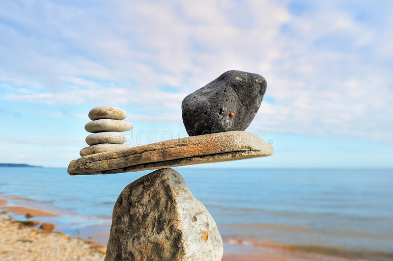Weight stones stock photography