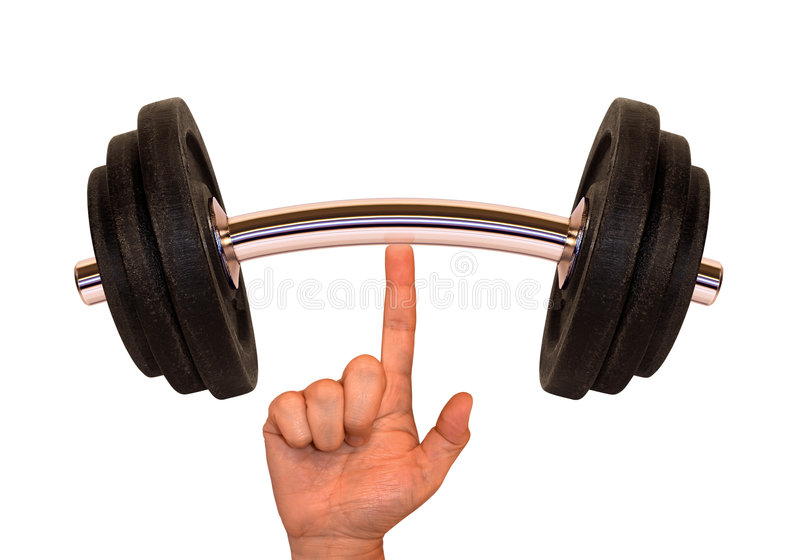 Weight (Super Finger) royalty free stock images