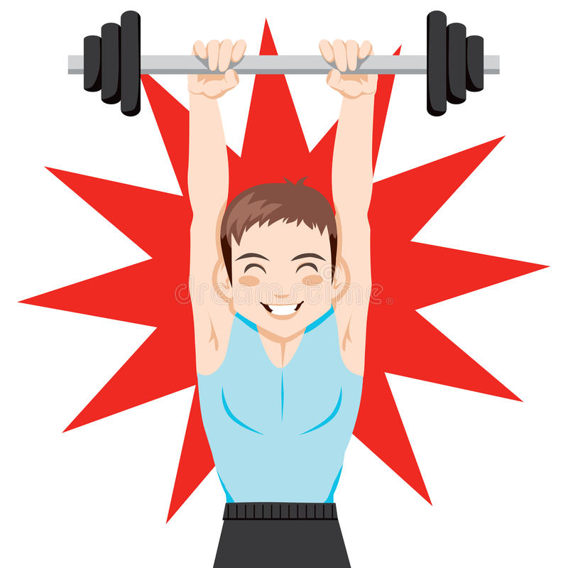 Download Weight Training stock vector. Image of lifting, cartoon - 19436979