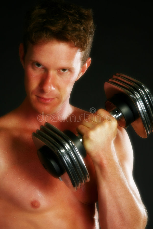 Weight Training stock photography