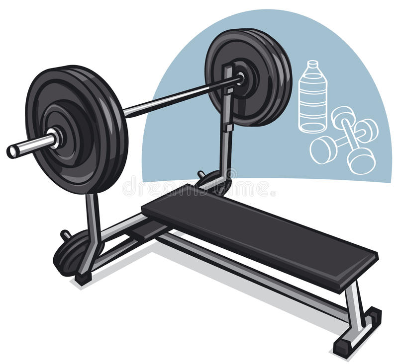 Download Weight training simulator stock vector. Illustration of muscular - 26086309