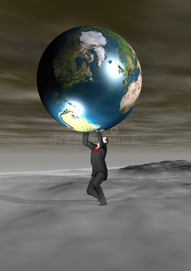 Download The weight of the world stock illustration. Illustration of world - 209593