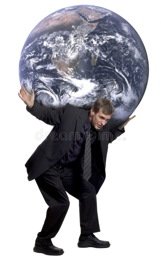 Weight of the world royalty free stock image
