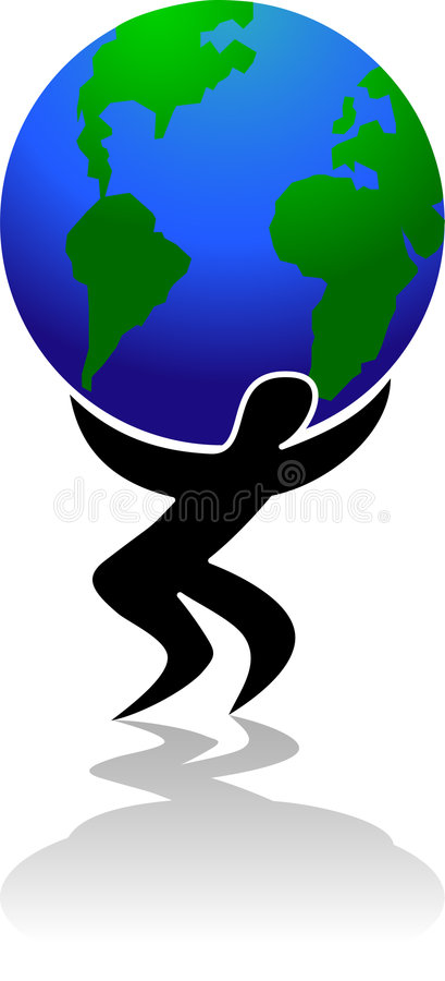 Download Weight of the World/eps stock vector. Image of person - 4455746