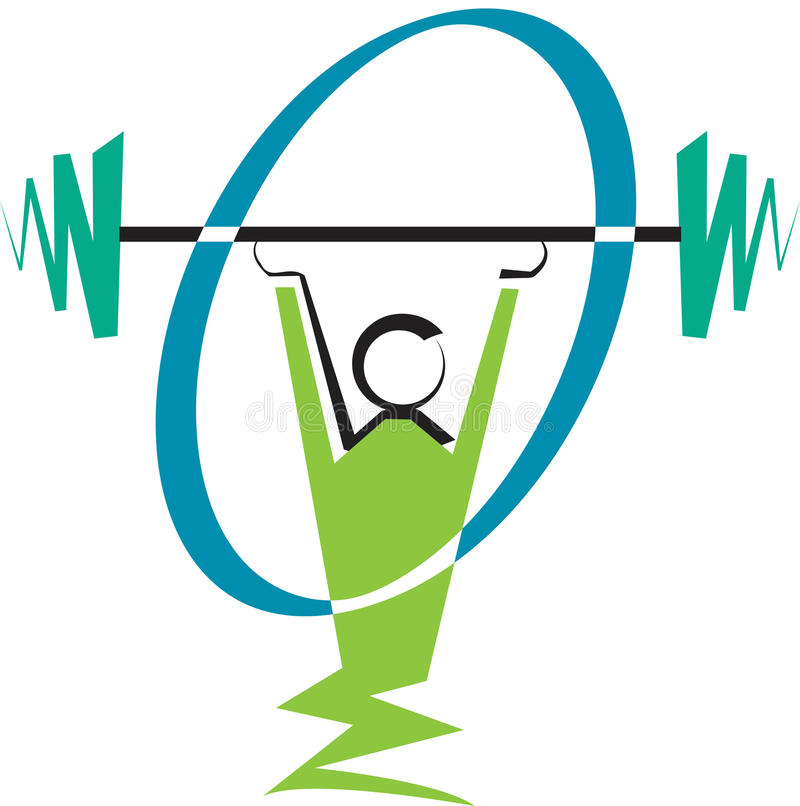 weightlifter vektor illustrationer