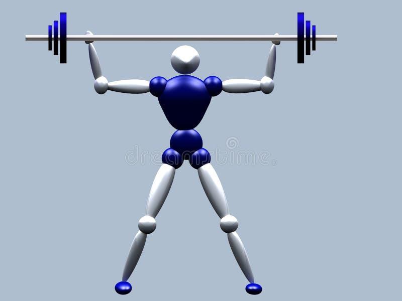 weightlifter διανυσματική απεικόνιση