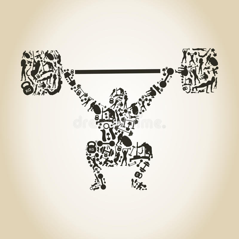 weightlifter royalty-vrije illustratie