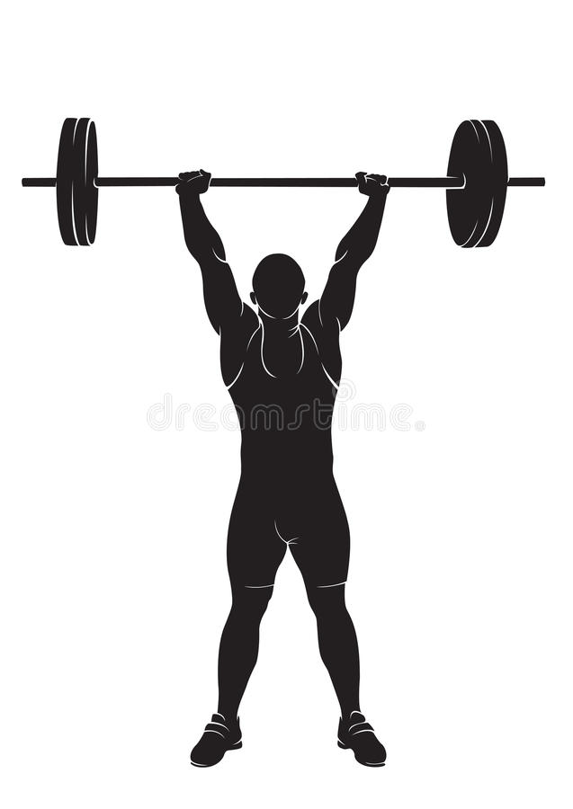 weightlifter stock illustrationer