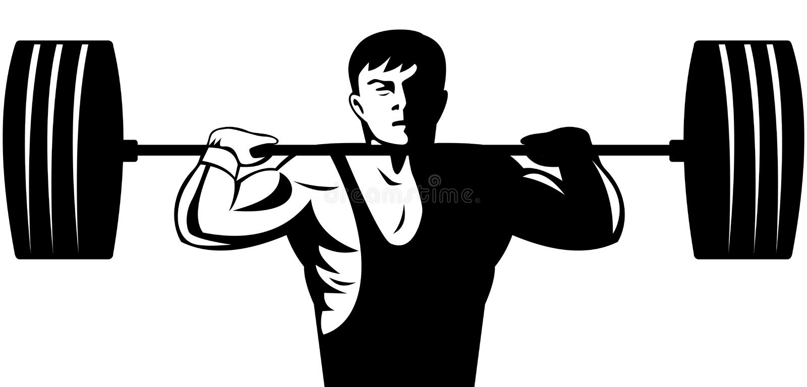 Weightlifter illustration stock