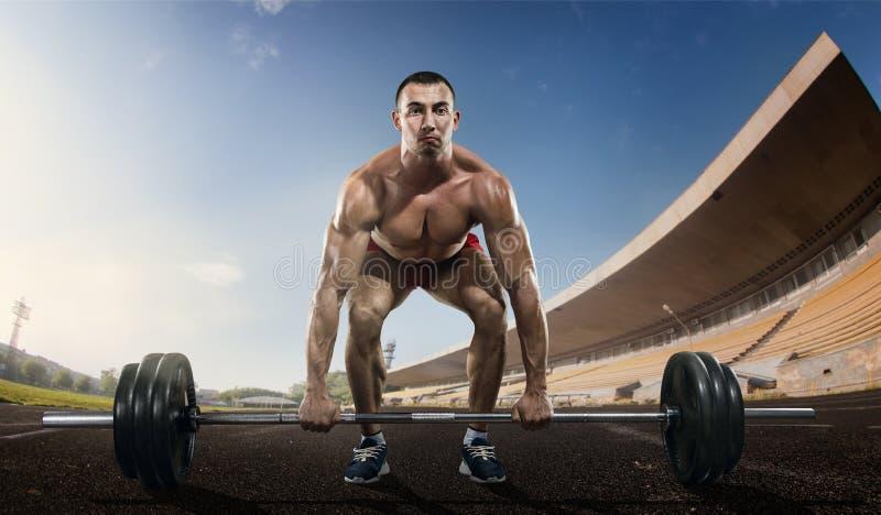 weightlifter fotografering för bildbyråer