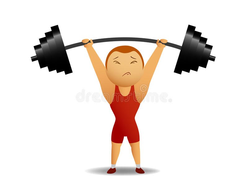 Weightlifter avec la tige illustration stock