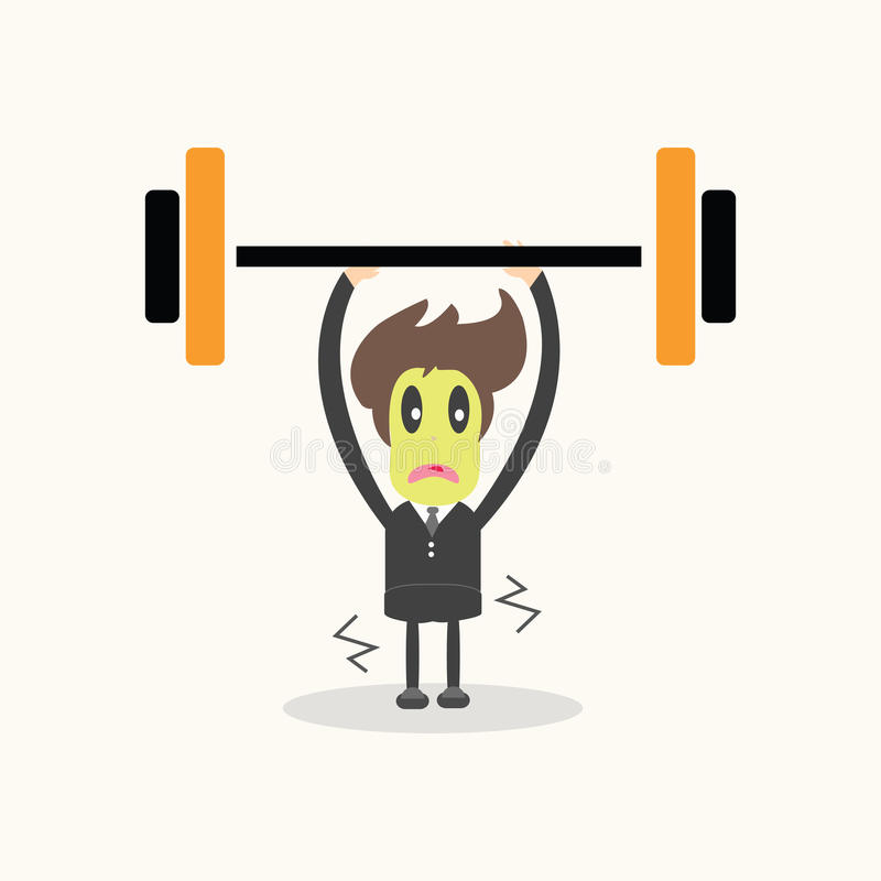 Download Weightlifter,business man. stock vector. Image of exercise - 35397016