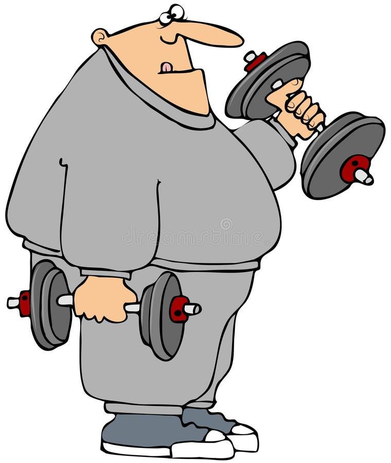 Weightlifter Chubby ilustração stock