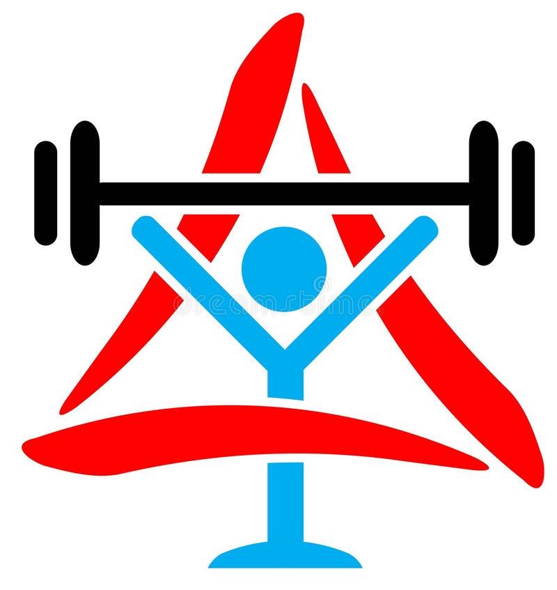 Weightlifter con el triángulo ilustración del vector