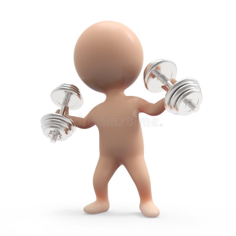 weightlifter 3d pequeno ilustração stock