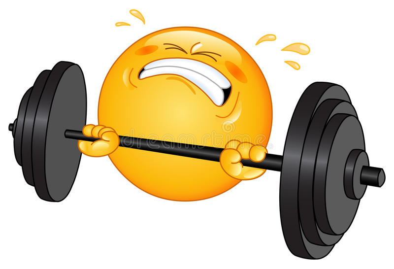 Weightlifter emoticon royalty-vrije illustratie