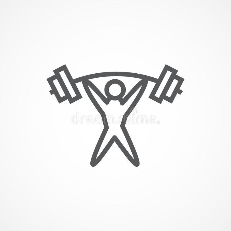 Weightlifter Icon royalty free illustration