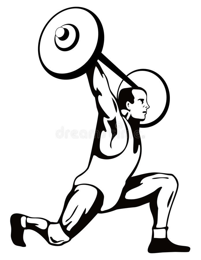 Download Weightlifter Lifting Weights Stock Vector - Illustration: 3644084