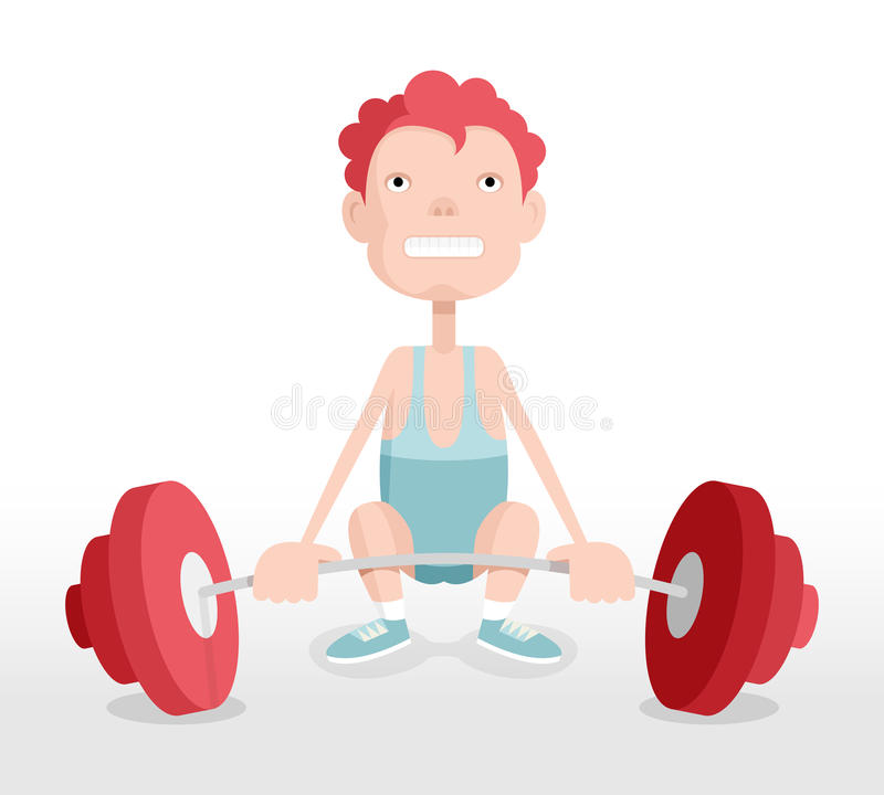 Weightlifter royalty free illustration