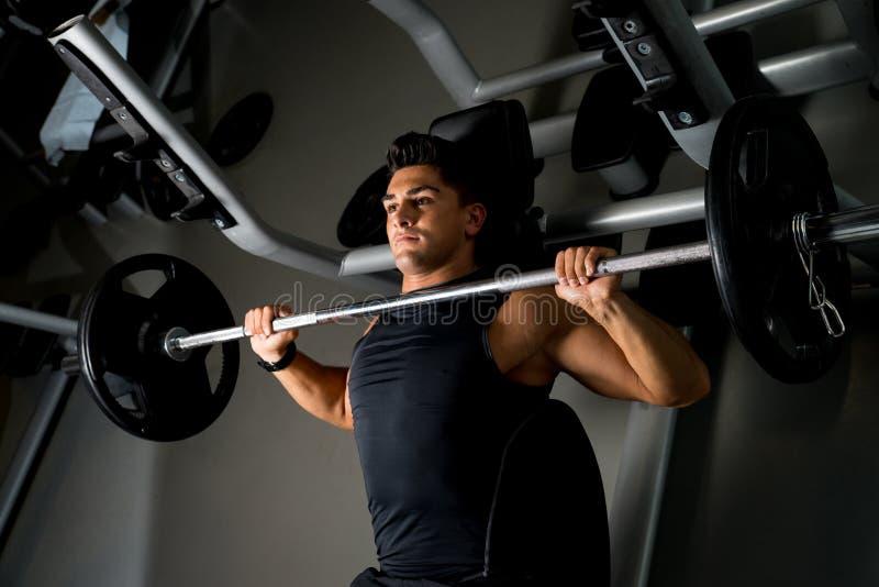 Weightlifter na Benchpress zdjęcia royalty free