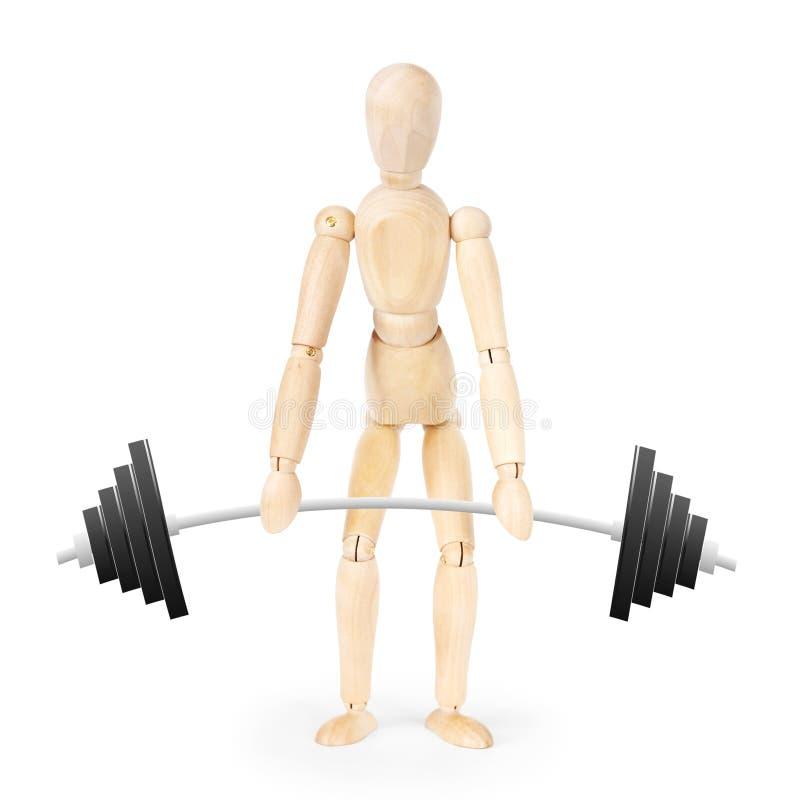 Weightlifter over witte achtergrond stock fotografie