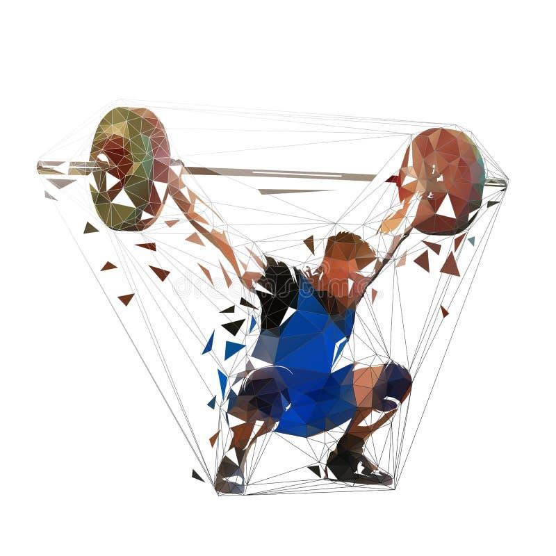 Weightlifter que levanta el barbell grande Levantamiento de pesas libre illustration