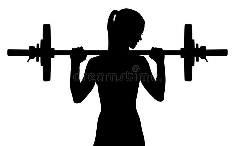 Weightliftermeisje stock illustratie