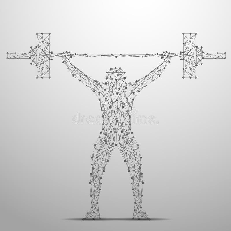 Weightlifterpolygrau lizenzfreie abbildung