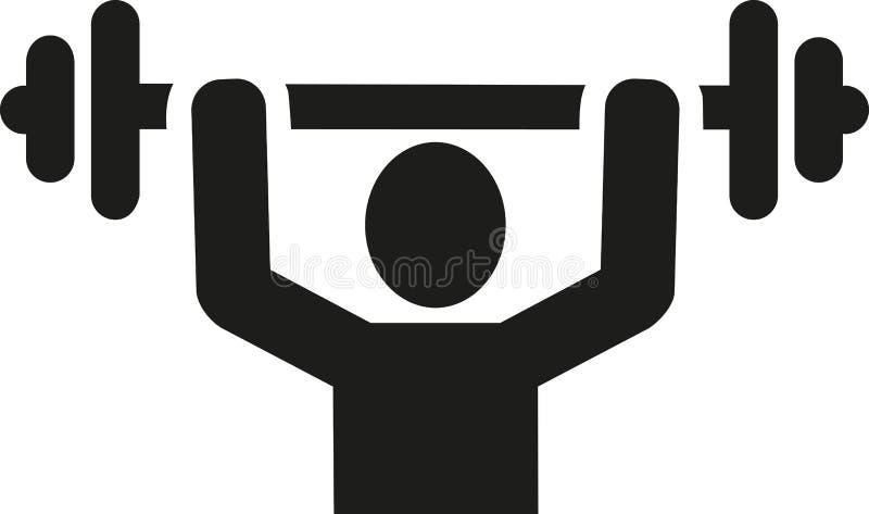 Weightliftersymbol vektor illustrationer