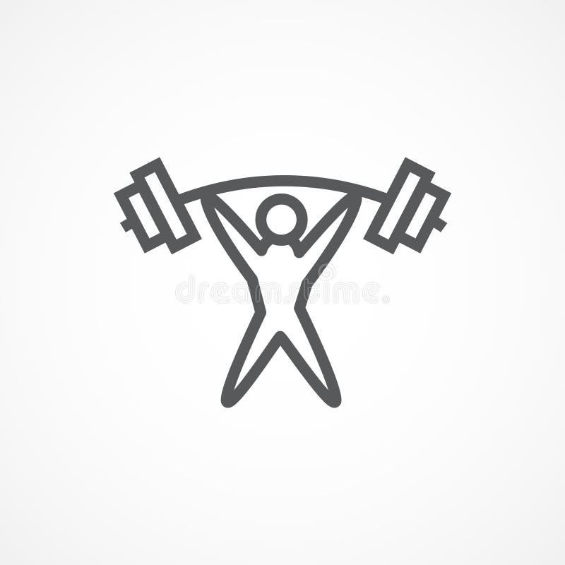 Weightliftersymbol royaltyfri illustrationer