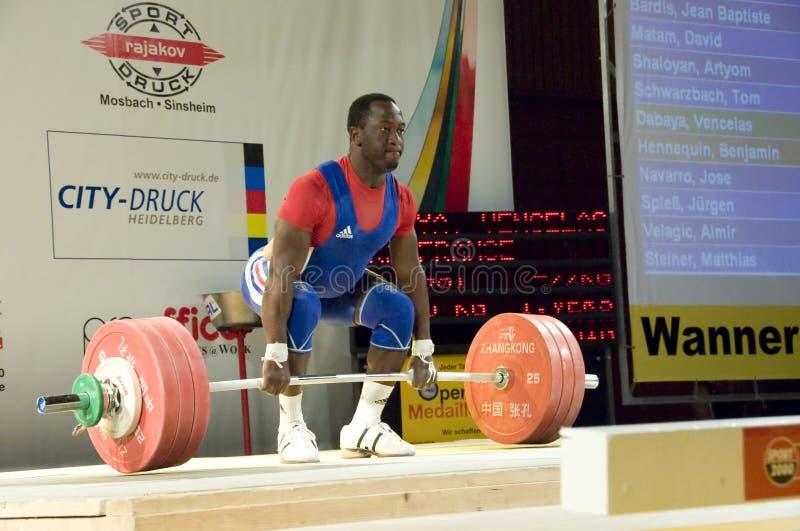 Weightlifting stockfoto