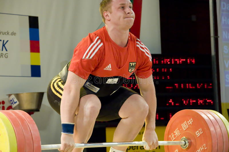 Weightlifting photographie stock libre de droits
