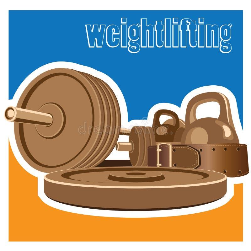 weightlifting illustration de vecteur