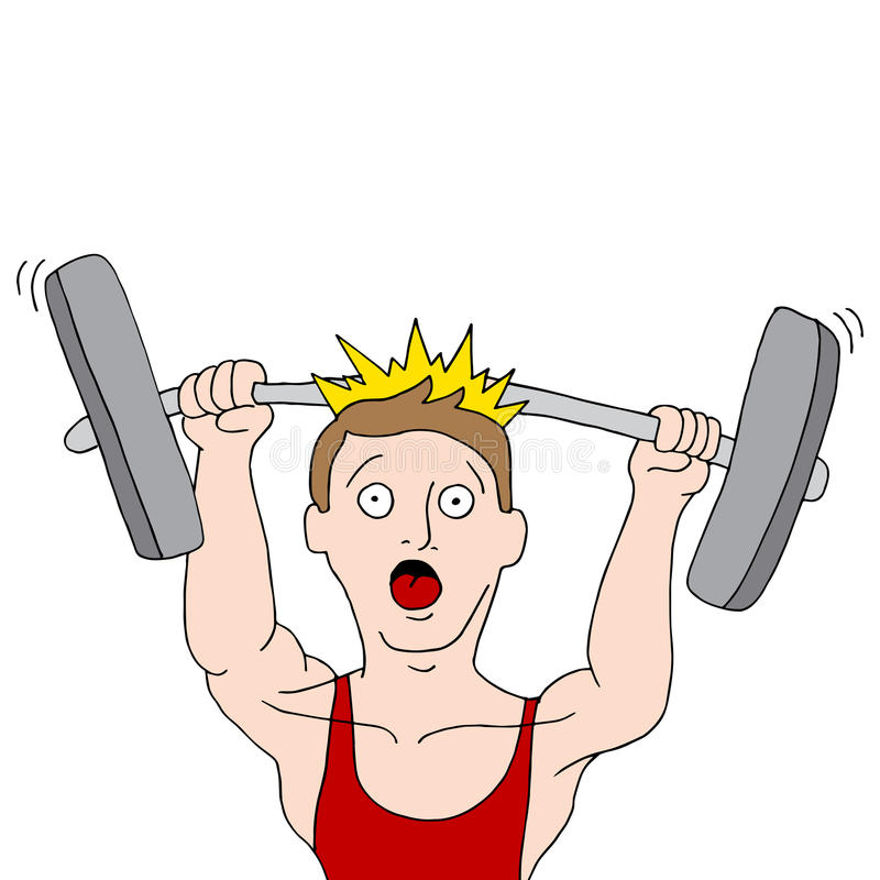 Weightlifting Accident stock illustration