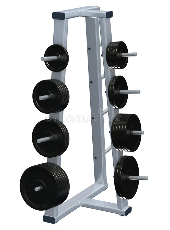 Download Weightlifting Discs On Rack Stock Illustration - Illustration of sized, equipment: 13104002